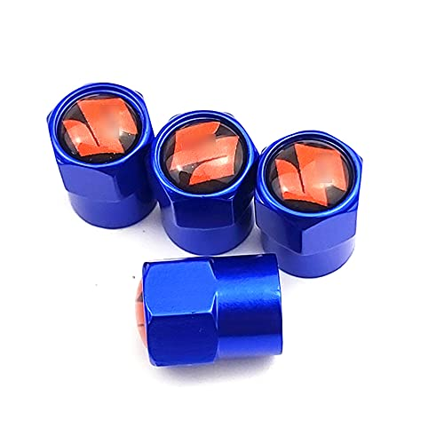 MLHH Válvula de neumático de Rueda de Coche de 4 Piezas, a Prueba de Polvo, Impermeable, válvula de Aire de neumático de Coche, vástago, Cubierta, Tapas, para Suzuki