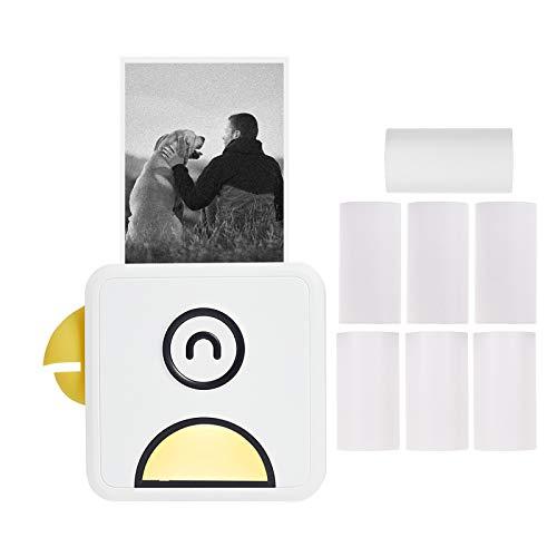 Aibecy Poooli L1 Mini Fotodrucker 200dpi Thermodrucker BT Wireless Receipt Label Sticker Maker mit Thermopapierrolle Kompatibel mit Android iOS Smartphone