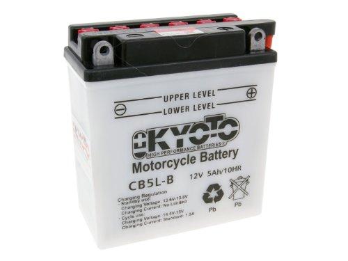 Batterie Kyoto 12V CB5L-B / 12N5-3B für Piaggio Sfera 80 2 0394- Bj. 1994-1996 - inkl. 7,50 EUR Batteriepfand
