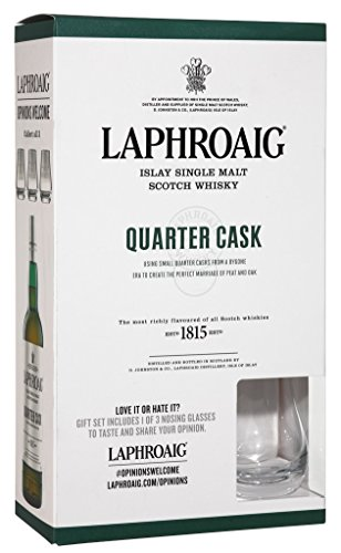 Laphroaig Quarter Cask Islay Single Malt 0,7 Liter + Nosing Glas