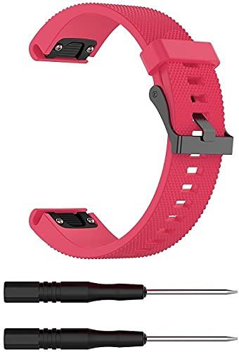 Gransho compatível com Garmin Fenix 5S/5S Plus (42MM) / Fenix 6S/6S Pro Pulseira de Relógio, Pulseira de Reposição Esportiva Clássica de Silicone Macio (Pattern 6)