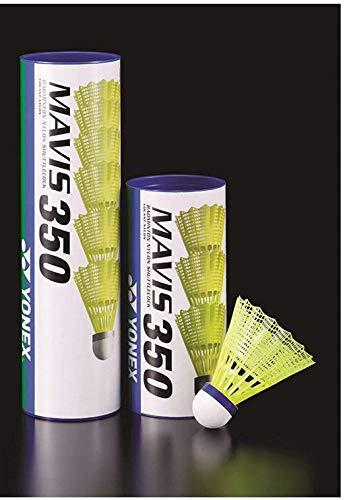 YONEX Mavis 350 Kunststoff-Federbälle, Weiß, 3 Röhren