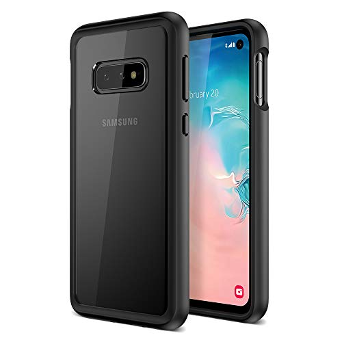 Maxboost Galaxy S10e Case HyperPro Series with Heavy Duty GXD-Gel Protection [Black/Clear] [PowerShare Friendly] Enhanced Hand-Grip TPU Cushion Frame Clear Hybrid Cover for Samsung Galaxy S10E