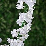 BalsaCircle 7 feet White 3D Chain Garland with Silk Hydrangea Flowers - 1 Garland - Wedding Centerpieces Arrangements Bouquets Supplies