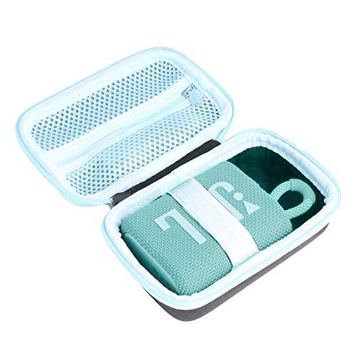 Baval hülle für JBL GO3 GO 3 Wasserdichte Ultra Portable Bluetooth Lautsprecher (schwarze Hülle + innen blaugrün)