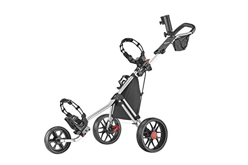 New Caddytek 3 Wheel Golf Push Cart - Lightweight, Close Folding Push Pull Caddy Cart, Easy to Open ...