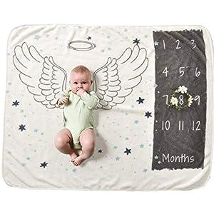 [TamaFleur] ベビー 寝相アート(Angel 天使) 赤ちゃん 記念写真 シート 月齢フォト