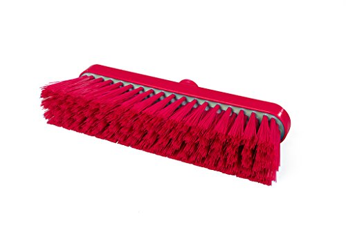 Maya Professional Tools 94147-3 zachte bezem FBK/levensmiddelhygiene met bevestigingssysteem, hars, 280 mm x 48 mm, rood