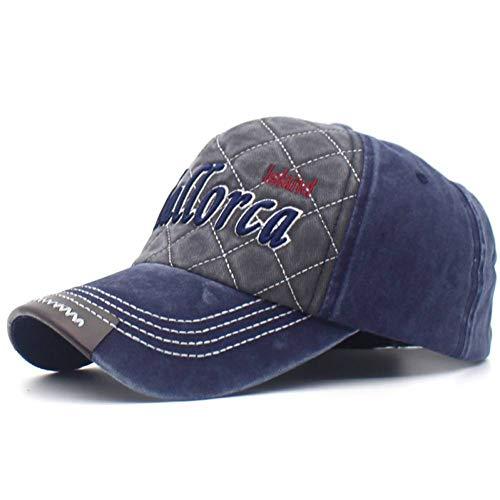 CXKNP Baseball Caps Mallorca Stickerei Buchstaben Snapback Hüte Für Männer Und Frauen Gewaschen Patch Baumwolle Baseballmützen