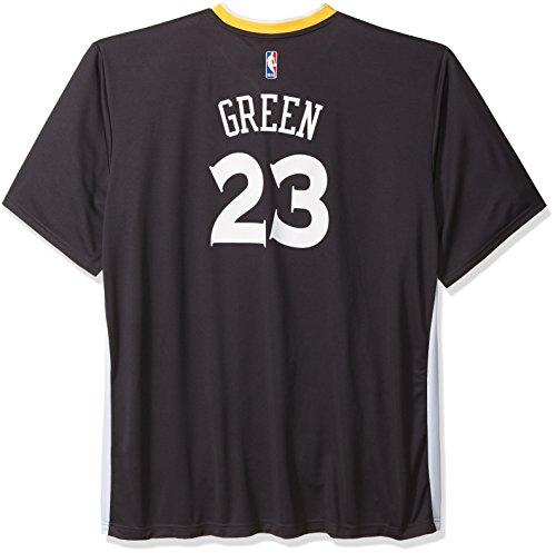 NBA Men's Golden State Warriors Stephen Curry Replica Player Alternate Road Jersey, Medium, Black