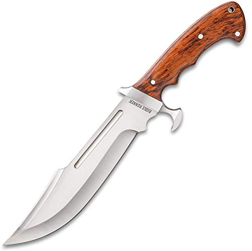 """Ridge Runner Woodland Reverie Bowie / Fixed Blade Knife - Stainless Steel, Full Tang - Genuine Zebrawood - Nylon Sheath - Collecting, Field Use, Display and More - 13 1/4"""""""