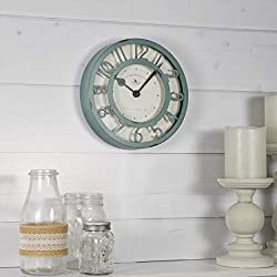FirsTime & Co. Sage Raised Wall Clock, 8, Green