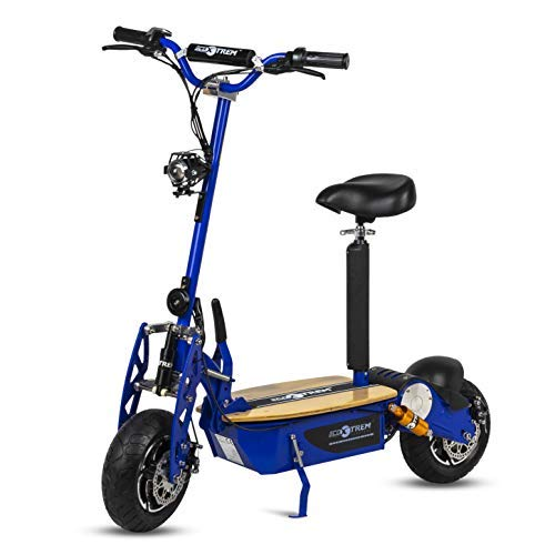 Patinete, Scooter tipo moto Eléctrico dos ruedas, Plegable, Color Azul Motor 2000W,...