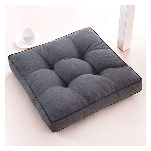 LanXin Square Seat pads Reversible Chair Pad Tatami Thicken Japanese Futon Pillow Universal Chair Cushion a (Color : K, Size : 45x45cm(18x18inch))