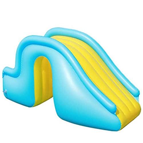 shandianniao Scivolo d'Acqua, Piscina Slide Gonfiabile Centro Giochi d'Acqua Acquario Bambini gonfiabili Castello ambientazione Esterna Playground per casa Interni (Color : Yellow)