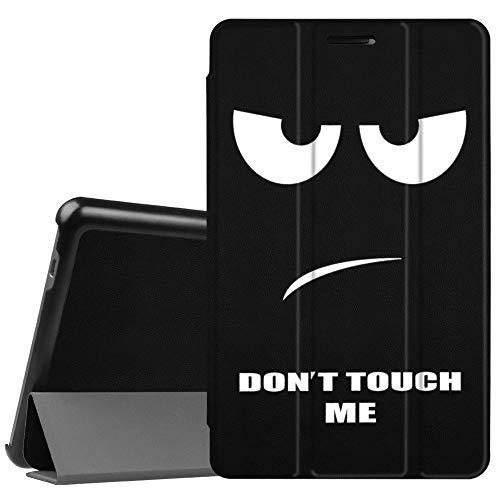 Fintie Hülle Hülle für Huawei Mediapad T3 8 - Ultra Dünn Superleicht SlimShell Ständer Cover Schutzhülle Tasche mit Zwei Einstellbarem Standfunktion für Huawei T3 20,3 cm (8,0 Zoll),Dont Touch