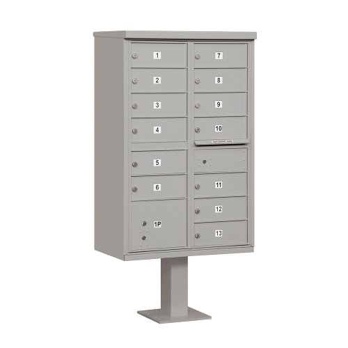 Salsbury Industries 3313GRY-U 13 B Size Doors, Type IV Cluster Box Unit, Gray, for use with The USPS Lock