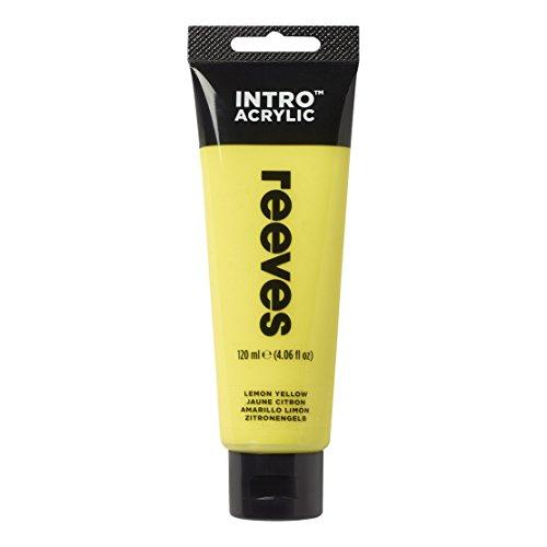 Reeves - Pintura acrílica, 120 ml, Amarillo limón