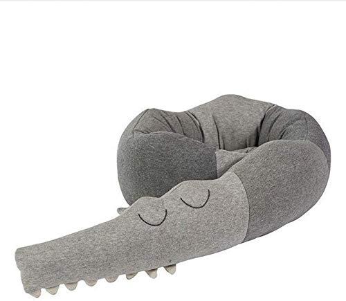 HKX Parachoques de Cuna, Estilo cocodrilo, Parachoques de Cuna para bebé, Parachoques, Parachoques, protección de Borde, Protector de Cabeza para Cama de bebé (185 cm de Longitud)