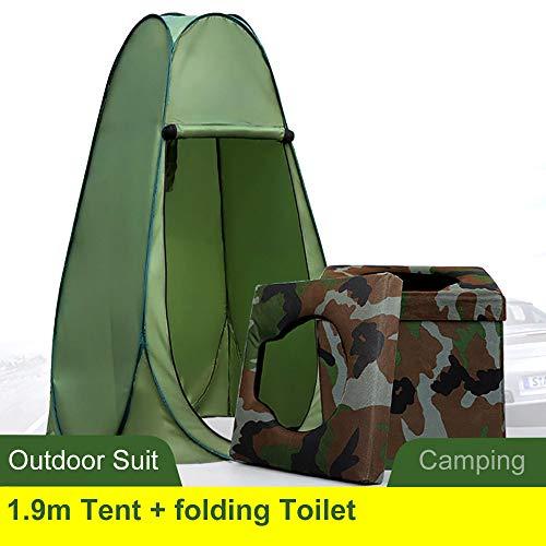 HZGrille Faltbare Camping-Toilette mit 1,9 M Campingzelt, Kombiniertes Design, Verwendet füR Camping-Wc, Baden Im Freien, Wechseln der Kleidung Im Freien, Autotoilette