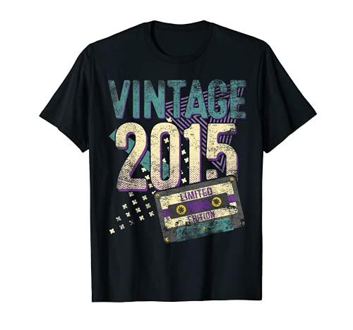 Vintage 2015 Edición Limitada 6 Años Regalo 6to Cumpleaños Camiseta