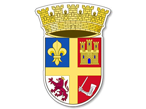 Saint Augustine Coat of Arms Shaped Sticker (fl FLA Florida st Logo)