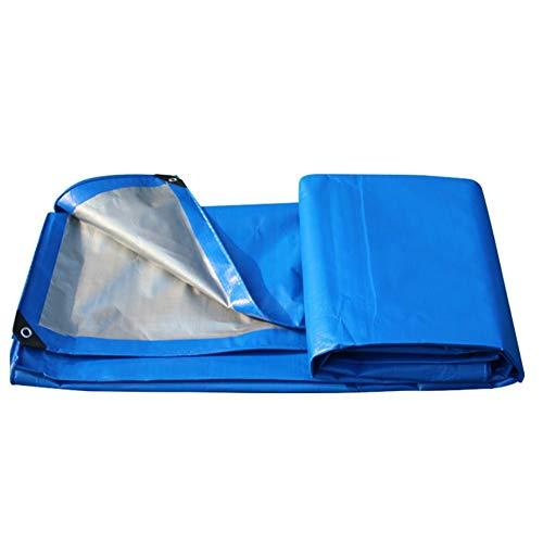 FH Wasserdichte Plane Für Den Außenbereich, 200g / M2 Mit Reißfestigkeit Und Wasserbeständigkeit, Blau Und Silber (größe : 2x3M)