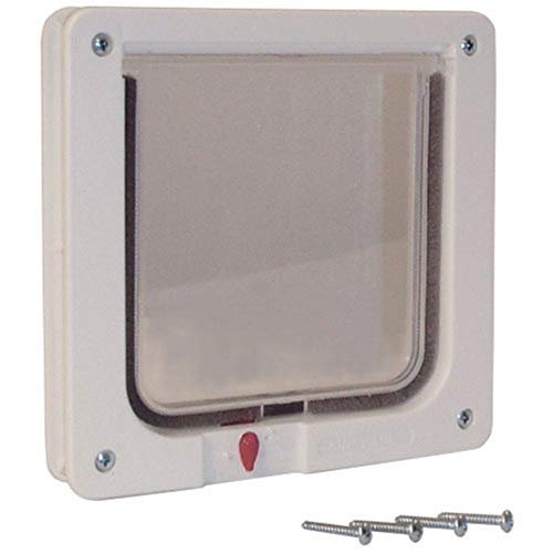 Ideal Pet Products Cat Flap Door with 4 Way Lock, 6.25' x 6.25' Flap Size