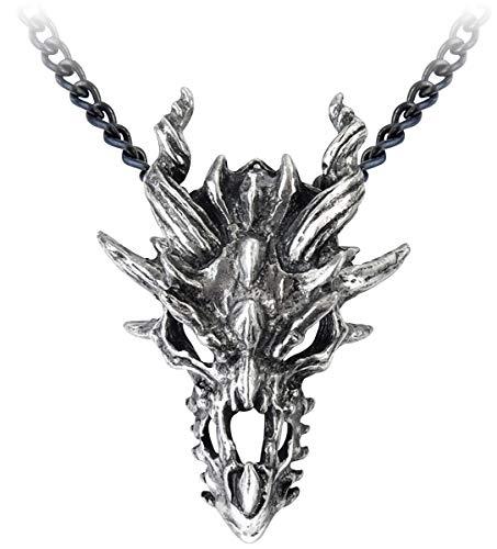 Alchemy Gothic Dragon Skull Unisex Halskette Standard