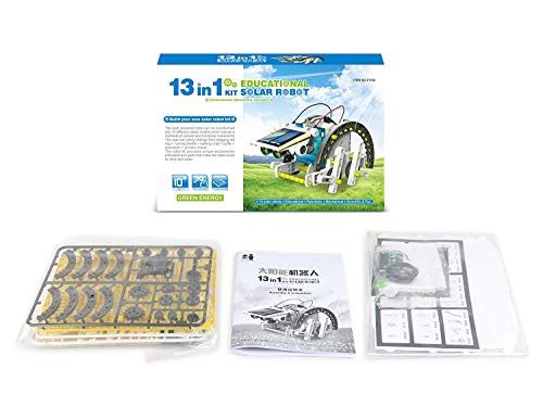 TEMSON Educational 13 in 1 Solar Power Energy Robot Toy Kit Science School Projects for Kids for Learning Purpose (13 in 1) (2115A)