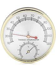 Akozon Dial de metal Termómetro interior Higrómetro Higrotermómetro Accesorio para sala de sauna