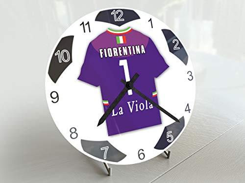 FanPlastic UEFA Champions League-Edition Fußballuhr, klein, Design für alle Teams, Fußball-Uhrwerk !, ACF Fiorentina