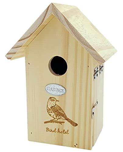 matrasa Vogelhaus Bird Hotel aus Holz - mit Revisionsklappe 13,5x11x19,5cm - Nistkasten