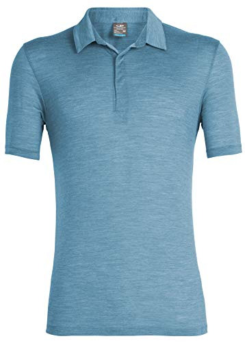 Icebreaker Solace - T-Shirt Manches Courtes Homme - Bleu Modèle S 2019 Tshirt Manches Courtes