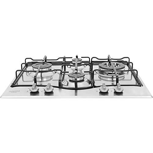 Hotpoint PCN 642 T/IX/HAR - Piano cottura gas, in acciaio Inox, da incasso, 1.000 W, 5,5 cm