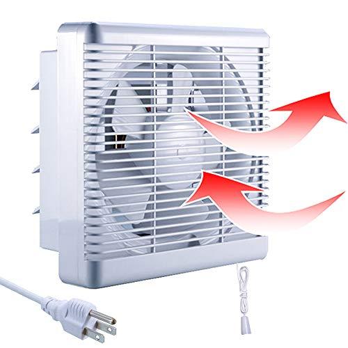 800m³/h 470 CFM Extractor de Baño Ventiladores de Baño Ventilación Reversible de 2 Vías con Persiana Interruptor Cable Gran Flujo Aire para Pared Ventana Cocina Garaje Tienda Inodoro 10