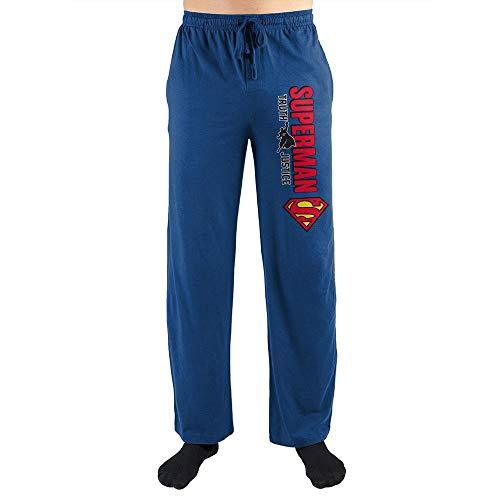 Superman Truth Justice Unisex Sleep Pants (XX-Large Blue
