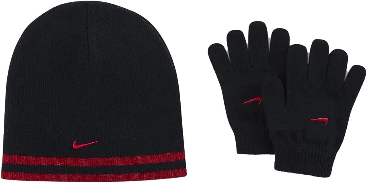 Nike Boys' Reversible Beanie and Glove Set