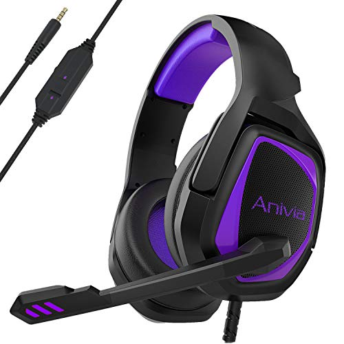 Stereo Gaming Headset for Xbox One PS4 PC - Surround Sound Over-Ear Headphones Anti-Noise Mic,Volume Control Laptop, Mac,Smartphone, iPad