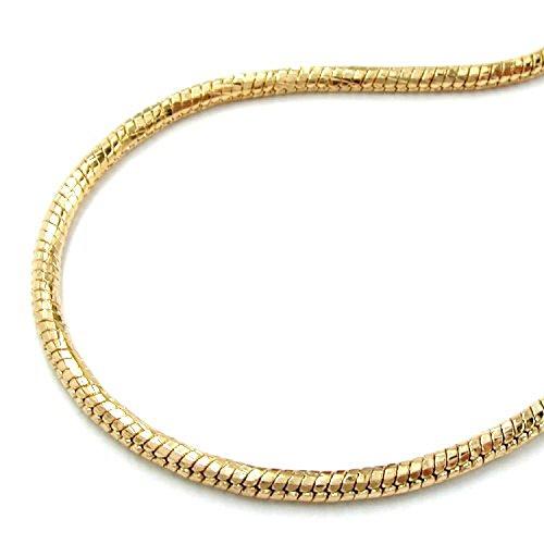 Latotsa Vergoldete Schlangenkette Schlange Schlangen Kette Halskette Gelbgold Gold Plattiert Vergoldet Goldkette Schmuck 50cm