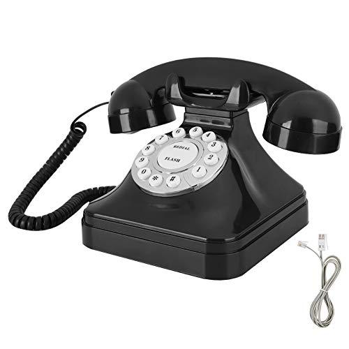 YUN Teléfono Negro Plástico ABS Base Antideslizante De Moda Multifunción con Función De Almacenamiento Flash Break Re-Dial WX-3011