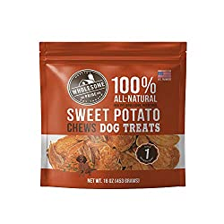 Healthy Dog Treats For Puppies - Wholesome Pride Sweet Potato Chews.