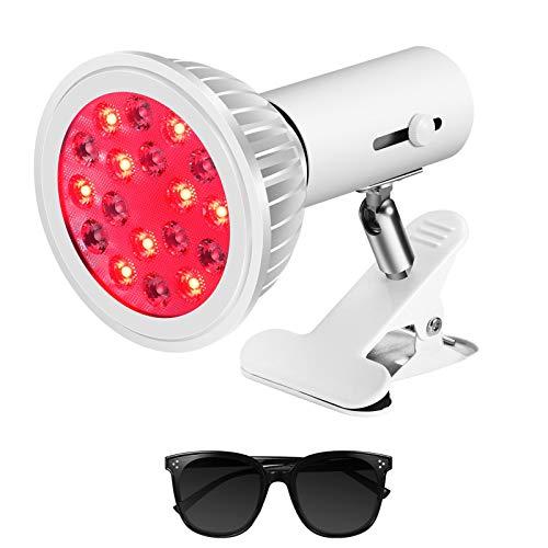 Wärmelampe Mit Rotlicht Lampe, Schmerzlinderung, Anti-Aging Muskelregeneration Rotlichttherapielampe, LED Regulierbar Neigungswinkeln Schreibtischclip Rotlichttherapiegerät, Körperpflegewerkzeug