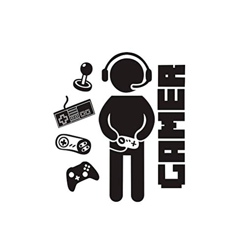 CLFYOU Gamer-Raum-Wand-Abziehbild-Aufkleber personalisierte Spiel DIY-Wand-Aufkleber Spielzimmer Geschenke für Jungen Teen