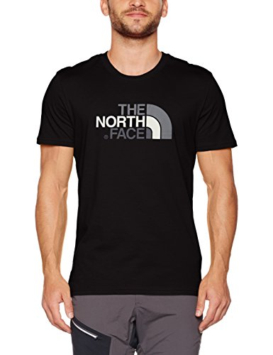 The North Face - Easy T-Shirt Manches Courtes Homme - Noir - FR : XXL (Taille Fabricant : XXL)