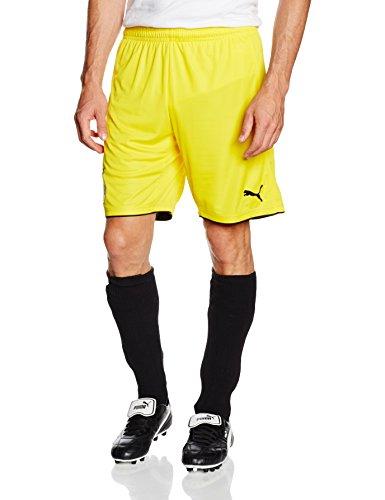 PUMA Herren Hose BVB Replica Shorts with Innerslip, Gelb-Cyber Yellow/Black, M