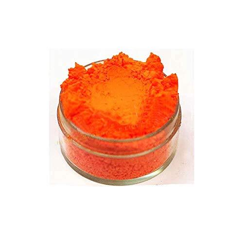 KandyDip Effektpigment NEON ORANGE Flourescent FLUORESZIEREND Farbpulver Pigment für Epoxidharz Autolack Sprühfolie Pigmente Aquarell Seife Powder (25 Gramm)