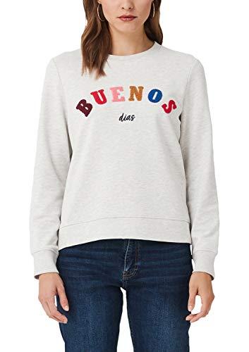 s.Oliver RED LABEL Damen Sweatshirt mit Applikation creme placed print 44