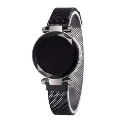 S.D Fashion Royal Looking Luxury Magnet Belt Girls and Women Touch Screen RED LED Watch