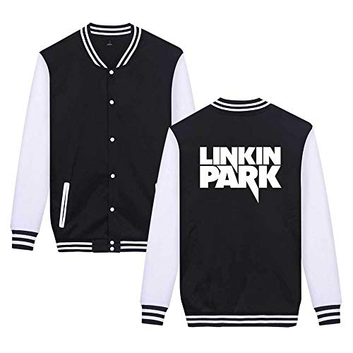 Linkin Park Pullover Casual Wilde Mantel Studenten Trend Jacke College Style lose Persönlichkeit Mode Oberbekleidung Frühling und Herbst klassischer Zipper Sweater Thin Coat dünne lange Hülsen T-Shirt